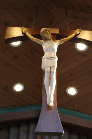close-up of the crucifix